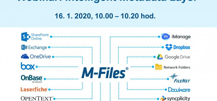 Webinar: Intelligent Metadata Layer, 16. 1. 2020