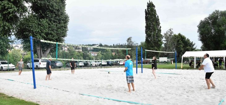 Company event: bicycles, beach volleyball, dinner, July 15, 2020