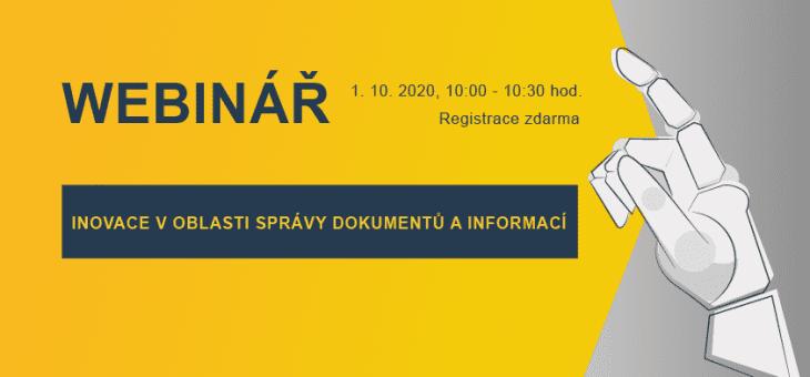 Webinar: Innovations in Document and Information Management, Innovation Week, October 1, 2020